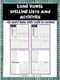 No Prep Long Vowel Spelling Lists and Activities