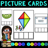 No Prep Long Vowel and Vowel Team Picture Cards Elkonin Boxes