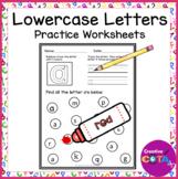 No Prep Lower Case Letter Worksheets