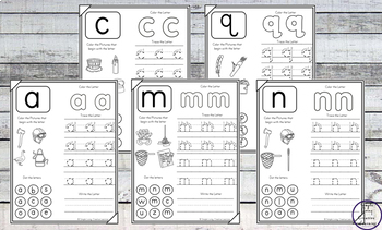 No-Prep Lowercase Alphabet Worksheets
