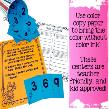 No Prep! MATH Centers for August {2nd Grade} (Back to School)