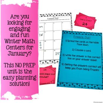 NO PREP! Math Centers for January {2nd Grade}