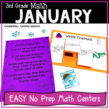NO PREP! MATH Centers! for January {3rd Grade}
