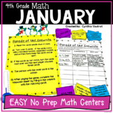 4th Grade MATH Centers for January No Prep