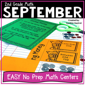 No Prep! MATH Centers for September {2nd Grade}