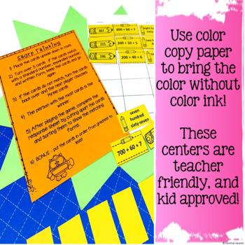 MATH Centers for 2nd Grade September No Prep