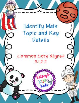 No Prep Main Topic and Key Details RI.2.2 Texts and Activities
