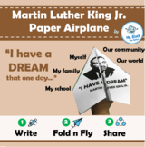 No Prep! Martin Luther King Activities - Paper Airplane (Printable)