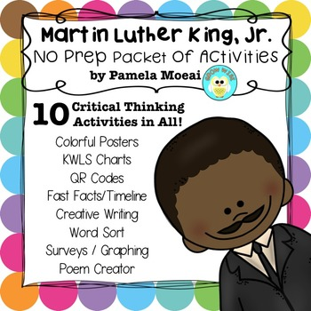 Martin Luther King, Jr. No Prep Activity Packet
