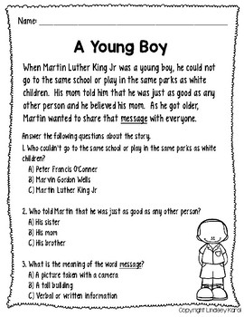 No Prep Martin Luther King Jr Speech and Language Pack