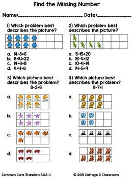 No Prep Math Activities for 1st Grade
