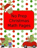 No Prep Math Christmas Pages