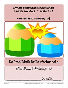 No Prep! Math Drills Workbook, Grade 2-3 Basic Operations CAPs Compatible