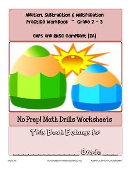 No Prep! Math Drills Workbook, Grade 2-3 Basic Operations