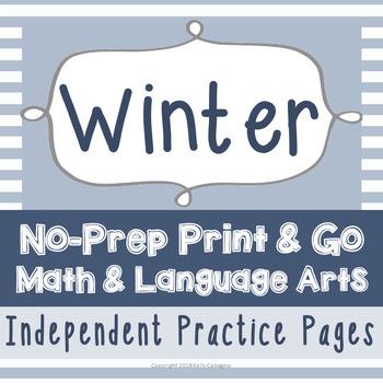 No-Prep Math & ELA - Winter