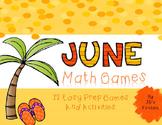 No Prep Math Games - June