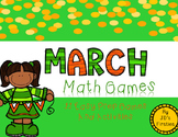 No Prep Math Games - March