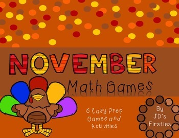 No Prep Math Games - November