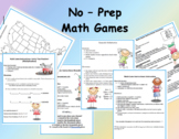 No Prep Math Games - Skill Review (3rd - 4th)