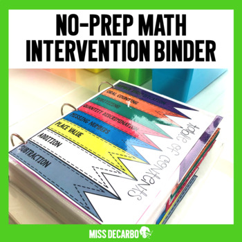 Math Intervention Binder No Prep