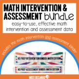 No Prep Math Intervention and Assessment Bundle