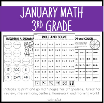 No Prep Math {January}