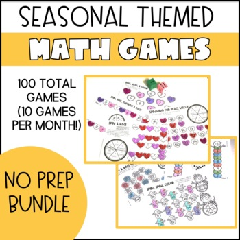 No Prep Math MONTHLY GROWING BUNDLE