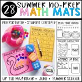 No Prep Math Center Mats: Summer, End of Year, K-1