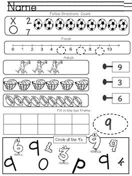 No Prep Math Morning Work K & 1st Grade
