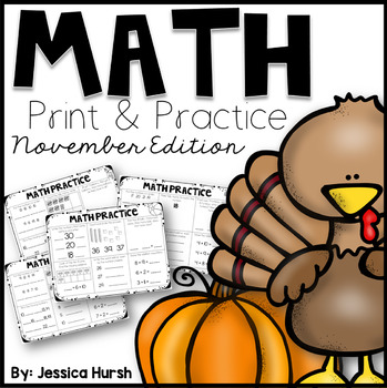 No Prep Math Practice - November Edition