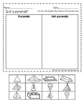 No Prep Math Printables: 3D Shapes