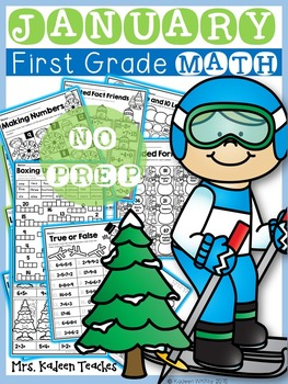 No Prep Math Printables-January