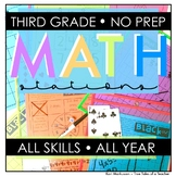 No Prep Math Stations- 3rd grade