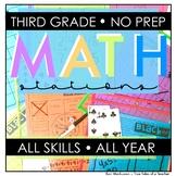 No Prep Math Stations- 3rd grade
