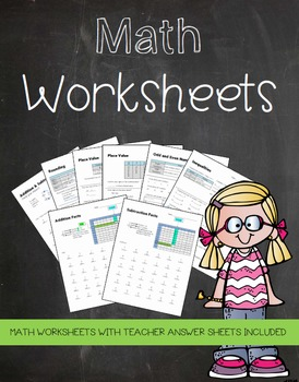 No Prep Math Worksheets