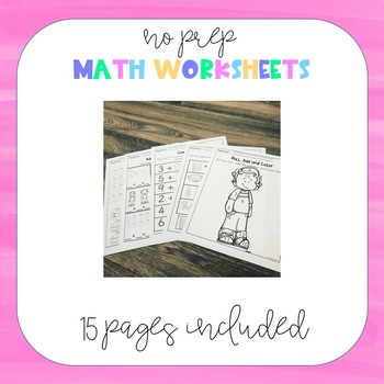 Kindergarten Math Packet