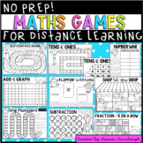 No Prep Maths Games for Distance Learning
