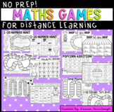 No Prep Maths Games for Distance Learning - Foundation