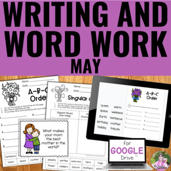 NO PREP May Writing and Word Work Package