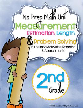 No Prep Measurement Unit 2nd Grade {CCSS}