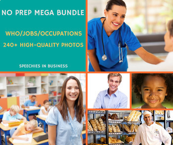 No Prep Mega Bundle: Who, Jobs and Occupations High-Quality Photos