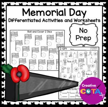 No Prep Memorial Day Printables