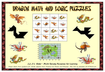 Dragon Pack - Visual Math and Logic Puzzles for Middle and