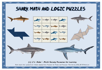 Shark Pack - Visual Math & Logic Puzzles for Middle and Upper Primary