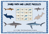 No Prep - Shark Math and Puzzles Pack