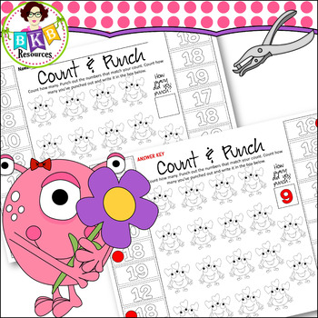 Hole Punch Activities ● Monster Count & Punch Sheets ● Counting ● No Prep