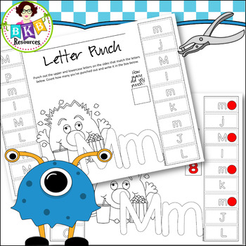 No Prep ● Monster Punch Sheets ● Letters ● Printables