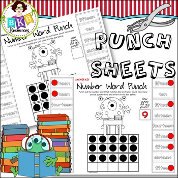 No Prep ● Monster Punch Sheets ● Number Words ● Math Centers