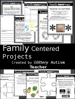 No Prep Monthly Family Centered Projects