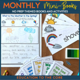 No Prep Monthly Mini-Books for the Year | Spring Activitie